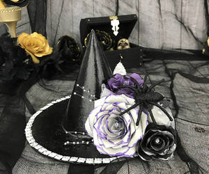 etsy, paper flowers, and witch hat image