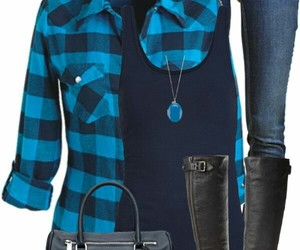 boots, flannel, and cute outfit image
