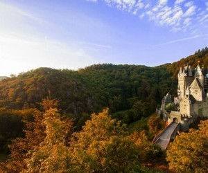 autumn, Sunny, and castle image