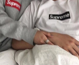 supreme, couple, and goals image