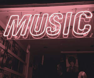 music, neon, and aesthetic image