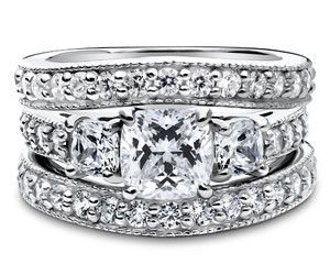 sterling silver, cz, and cushion cut image