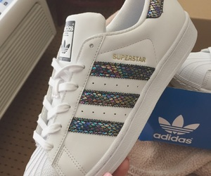 adidas, blue, and colourful image