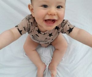baby boy and smile image