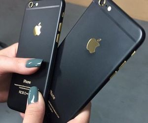 black, iphones, and nail design image