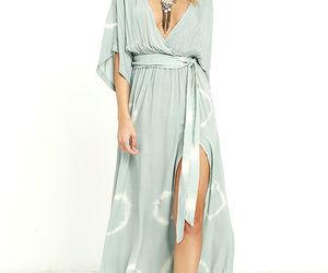 fashion, robe, and Bleu image
