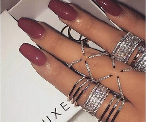 diamond, nails, and silver image