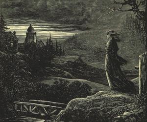 dark, gothic, and sketch image