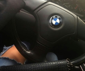 bmw and girl image