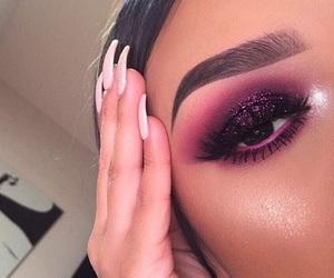 black, glitter, and purple image
