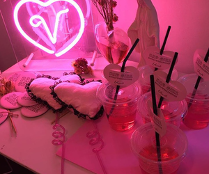 pink, neon, and hot pink image