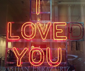love, neon, and quotes image
