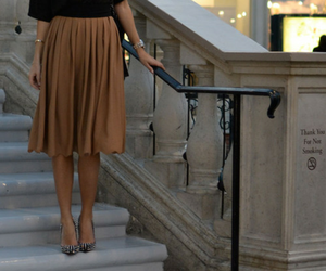 fashion, shoes, and skirt image
