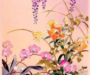 art, flowers, and japanese image