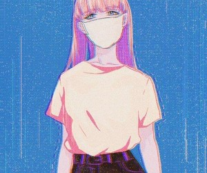 anime, aesthetic, and pink image