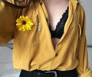 yellow, flowers, and style image
