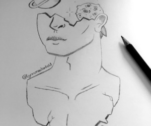 art, artwork, and black image