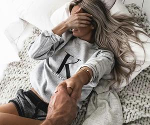 couple, gray, and tan image