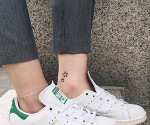 ankle, fashion, and tattoo image