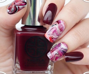 manicure, marble, and red image