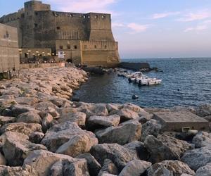 italy, napoli, and sea image