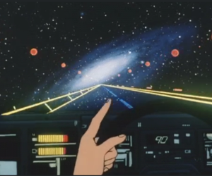 gif, space, and retro image