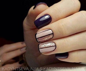 nails, black, and fashion image