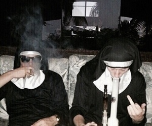aesthetic, drugs, and nun image