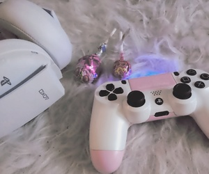 gamer, pink, and playstation image