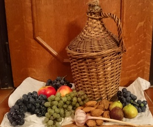 almond, apple, and grapes image