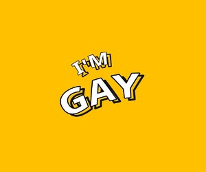 yellow, gay, and tumblr image