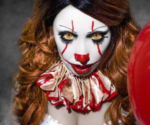 clown, costumes, and Halloween image