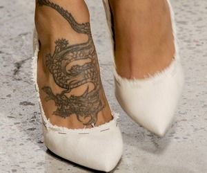tattoo, heels, and fashion image