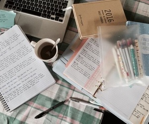 study, book, and notebook image