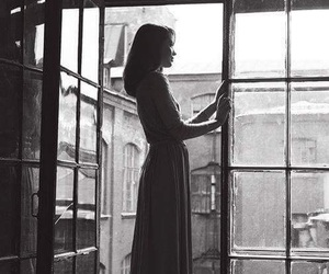 girl, photography, and window image