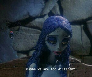 corpse bride, different, and text image