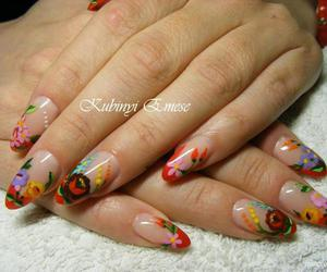 colorful, flowers, and nails image