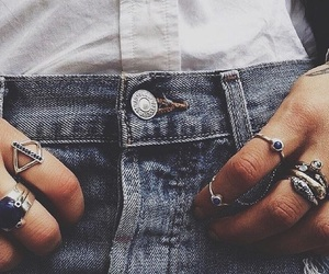 fashion, rings, and jeans image