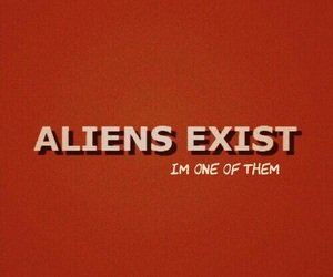 alien, red, and quotes image