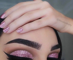makeup, nails, and eyebrows image