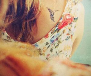tattoo, bird, and hummingbird image