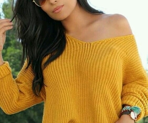 fall, autumn, and yellow sweater image