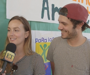 adam brody, leighton meester, and couple image
