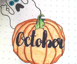 handlettering, lettering, and october image