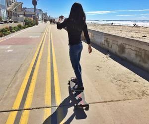 girls, longboarding, and skater image