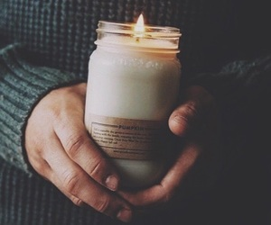 candle, autumn, and fall image