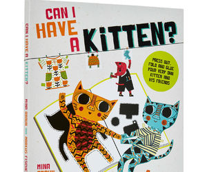 book and kitten image