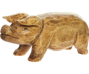 wooden and pig image
