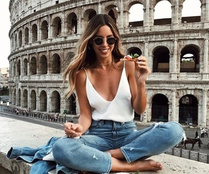 girl, travel, and jeans image