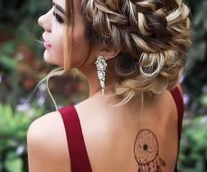 tattoo, hair, and hairstyle image